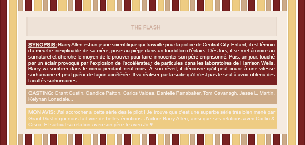 ~WonderfullSeries The Flash ►►Création - Décoration - Article Série.