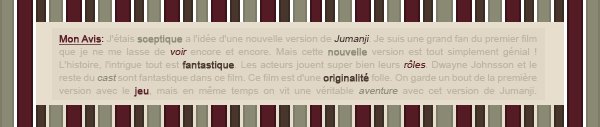 ~WonderfullSeries Jumanji : Bienvenue Dans La Jungle ►►Création - Décorations - Article Sagas - Films.