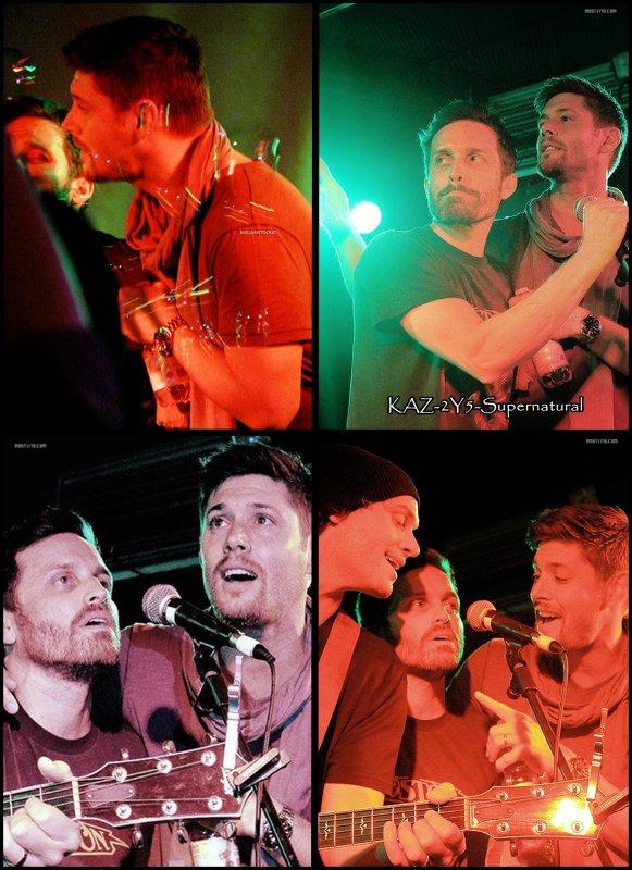 Jensen , Jared et Jeffrey allant au Superbowl party le Dimanche 7/02/2011 (gif : 7 photos)