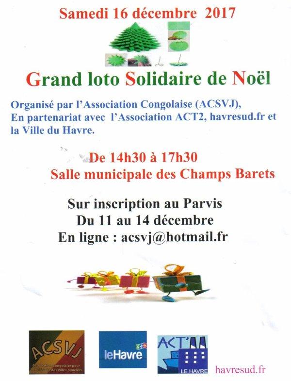 Loto Solidaire: Samedi 16 décembre 2017