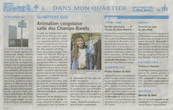 Animation Congolaise Le Havre plein Sud !