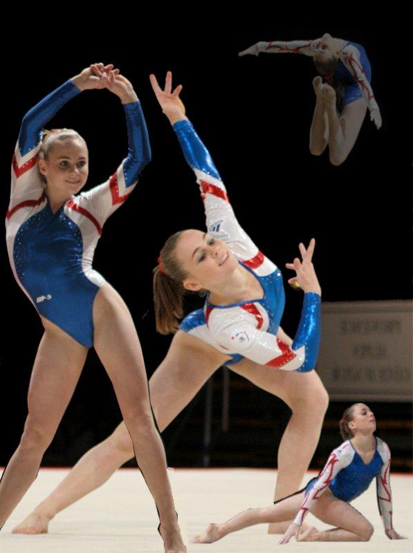 Montage pour I-Love-Gymnastics sur Doriane Thobie