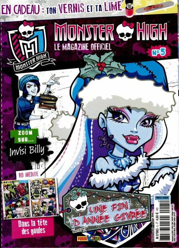 Attention sortie du magazine n°5 Monster High