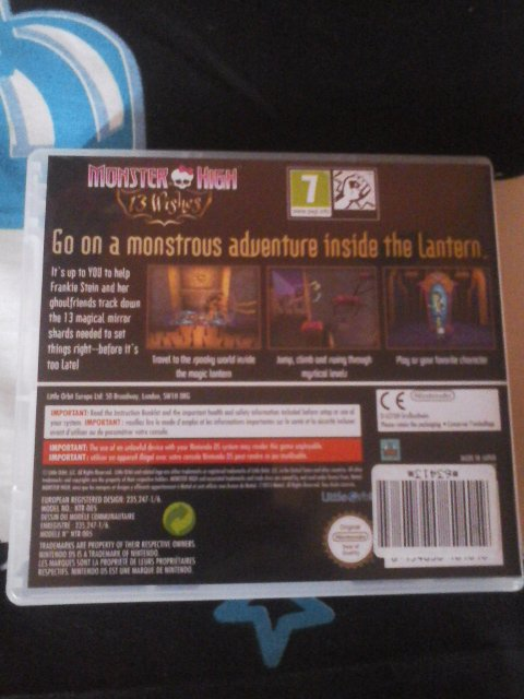 Jeu ds : Monster High 13 souhaits