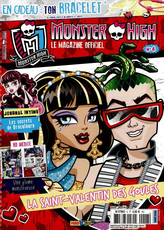 Attention sortie du magazine n°6 Monster High