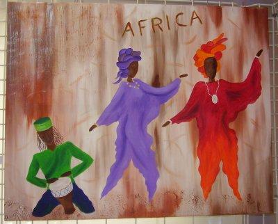Peinture sur le thème de l'Afrique