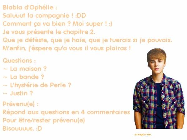 Chapter Two ♥    ♥   Je viens de Paris, pas du pôle nord   ♥