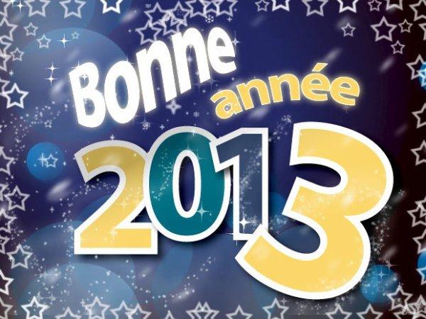 bonne et heureuse année 2013 à tous