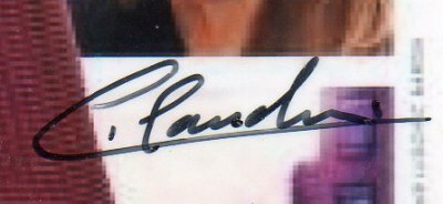 Autographe de Claudine Coster