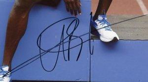 Autographes d'Usain Bolt 1 & 2