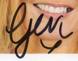 Autographe de Geri Halliwell
