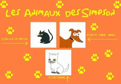 les animaux des simpsons