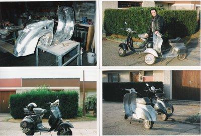 Les 2 premiers Scooters de Federico (Fred) : 1 Vespa ACMA 125 cm3 et une Vespa 50 cm3 restaurée !
