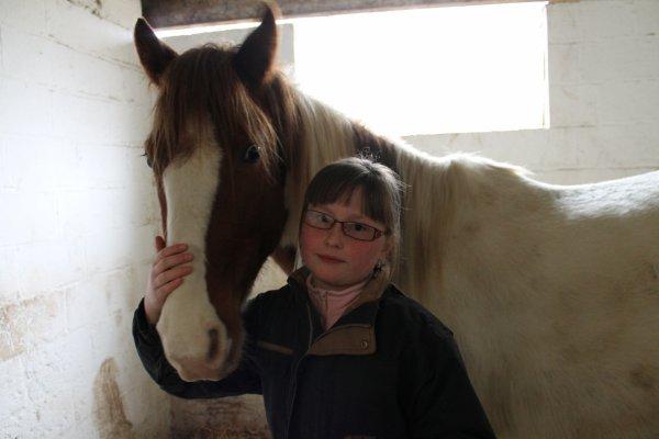 Une amie de l'équitation et ma louloute !