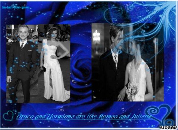 Draco et Hermione & Romeo et Juliette