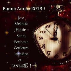 Bonne Année 2013 à tous!
