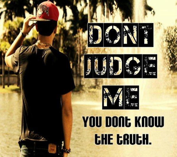 Ne jugez jamais, Seul Dieu le fera