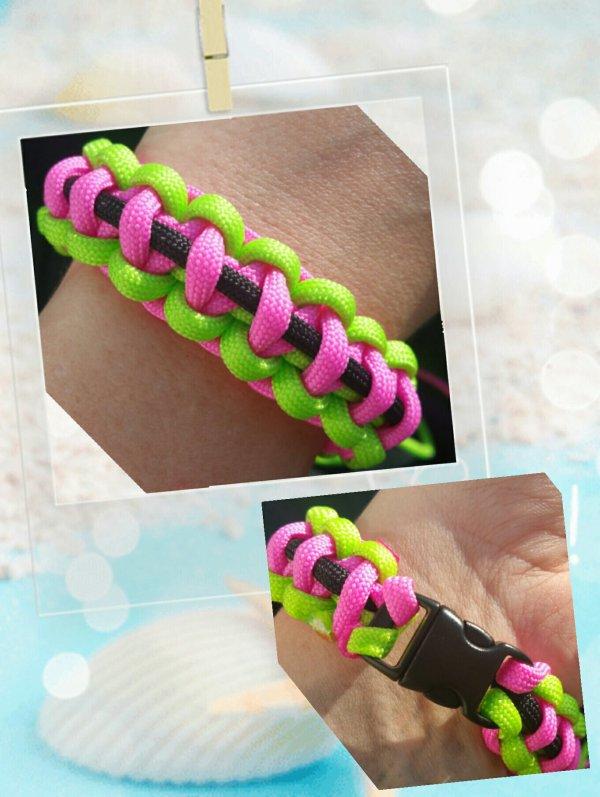 Paracord bracelet couleurs d'été ?