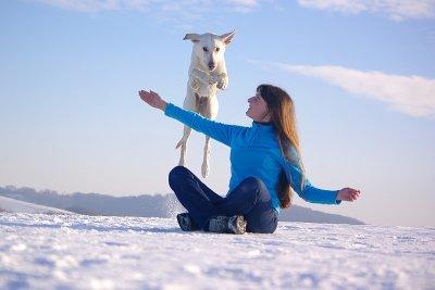 Delilah et moi dans la neige!