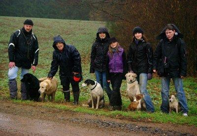 Promenade sous la pluie!