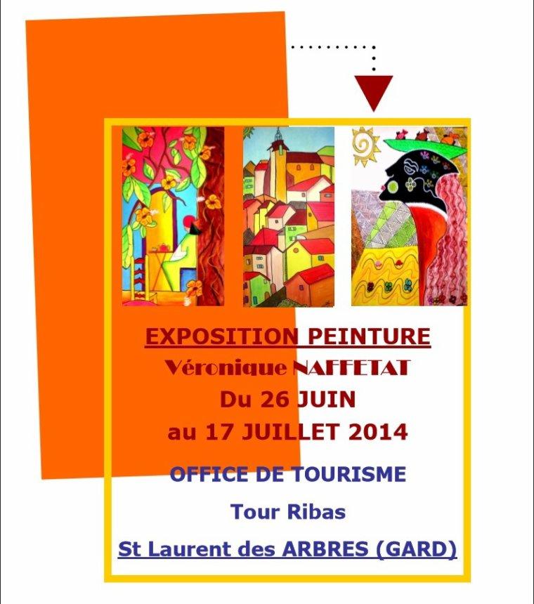 Exposition de peintures de Véronique Naffetat