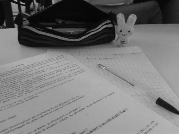 En direct du cours de français.
