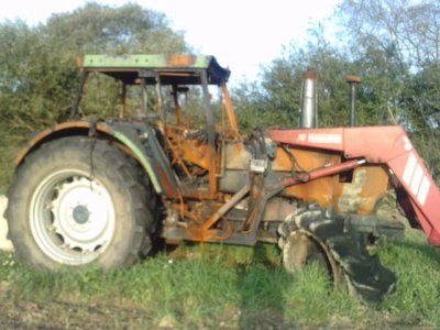 tracteur cramé