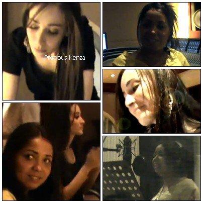.  Kenza en studio avec Cheba Maria  .