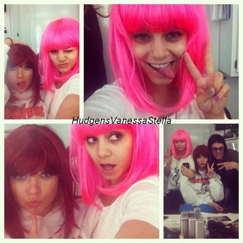 23 Mars 2012. Vanessa, Ashley , Selena & Rachel se font arréter pour le tournage de Spring Breakers.