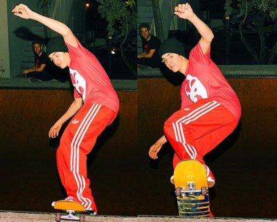 Justin et son skateboard !