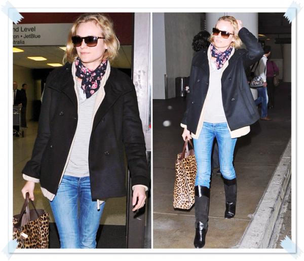 4 Février 2011 - Diane à l'aéroport de Los Angeles