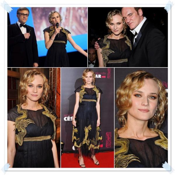 26 Février 2011 - Diane à la cérémonie des Césars 2011