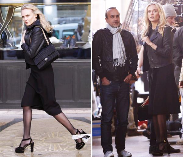 25 Avril 2011 - Diane sur le tournage d'une pub l'Oréal à Paris