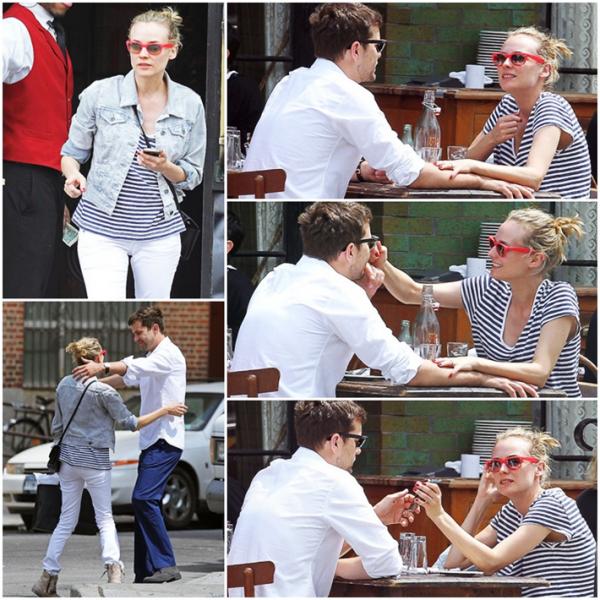 3 Mai 2011 - Diane et Joshua déjeunent à New York