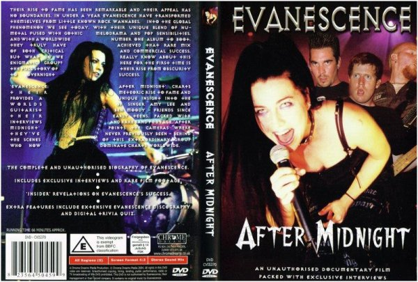 "DVD non officiel ""After Midnight""."