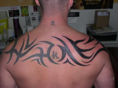 Tribal Haut Du Dos Follie S Tattoo