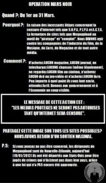 """Opération """"BLACK MARCH"""" d' Anonymous"""