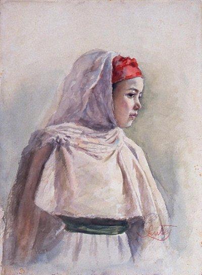 Petite fille arabe, Delacroix