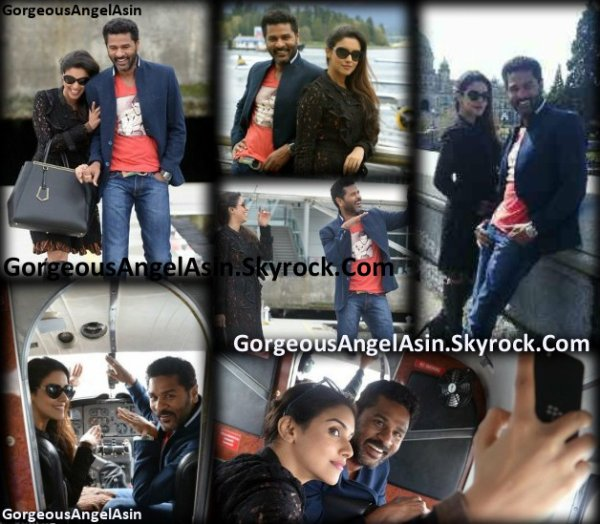 Asin with Prabhu Deva