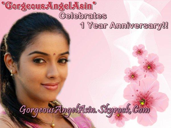 'GorgeousAngelAsin' blog Celebrates 1 Year Anniversary