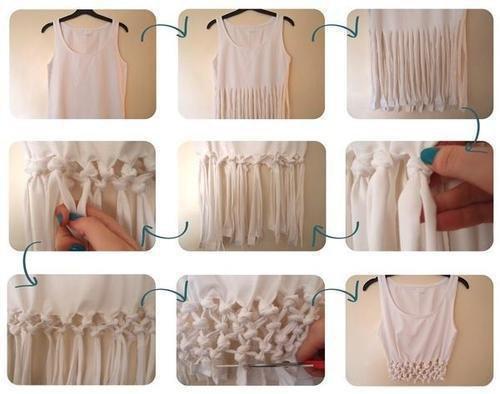 Diy Shirt Franche avec noeud