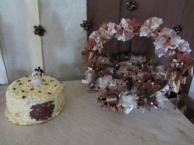 Corbeille et gâteau fouetté
