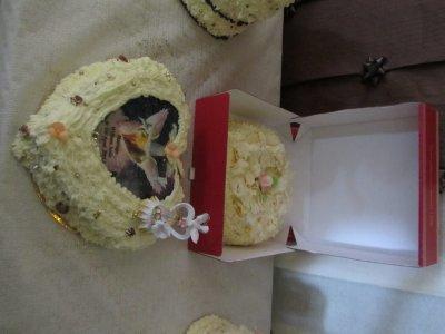 Gâteau fouetté coeur