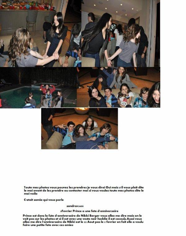 Prince à la fete d'anniversaire 5/02/11