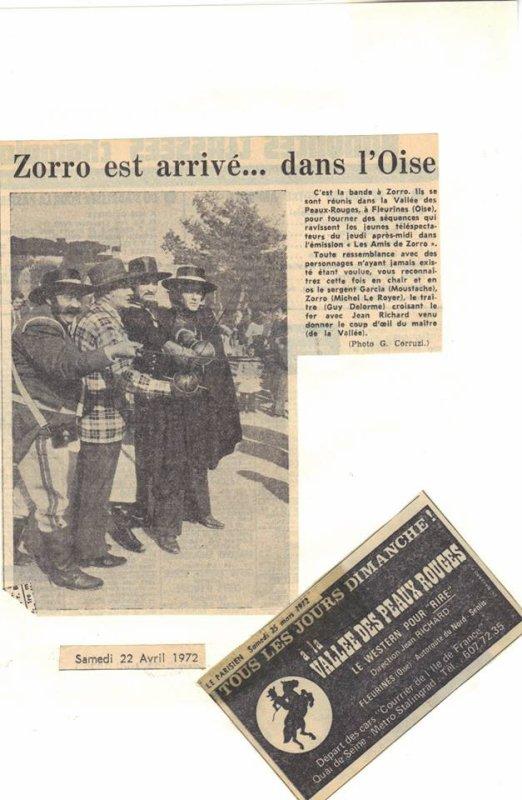 zorro a la vallée ( avec Michel le Royer et moustache )toute une epoque