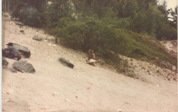 l'attaque du train a côté du fort en 1986 une de mes derrières participations aux animations a la vallée