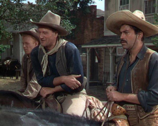 harryCarey Jr , John Wayne et Pedro Armandaritz