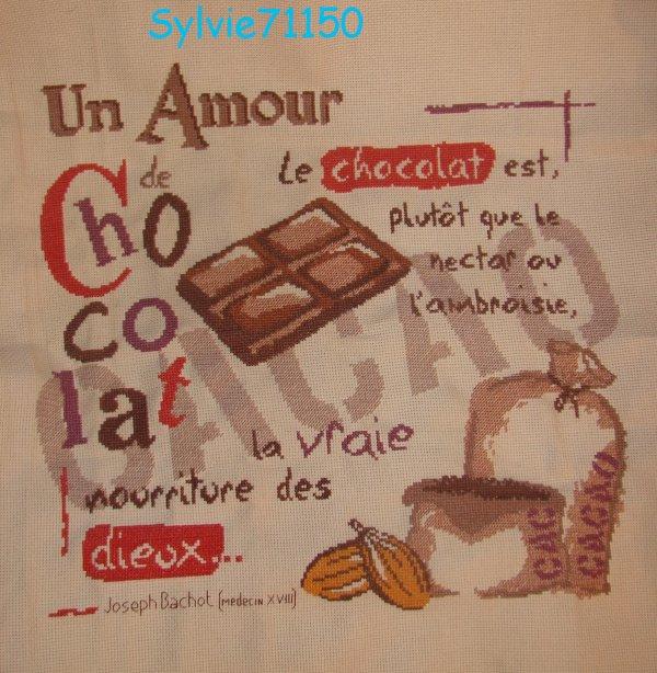 un amour de chocolat fini...