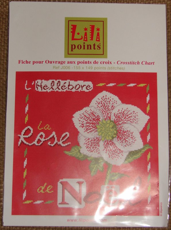 La rose de noel de Lili points...
