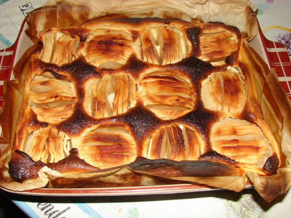 Gâteau aux pommes.